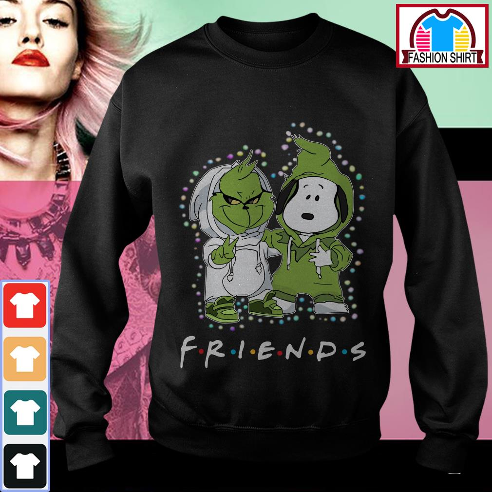 Official Baby Grinch and Snoopy Friends Christmas light shirt by tshirtat store Sweater