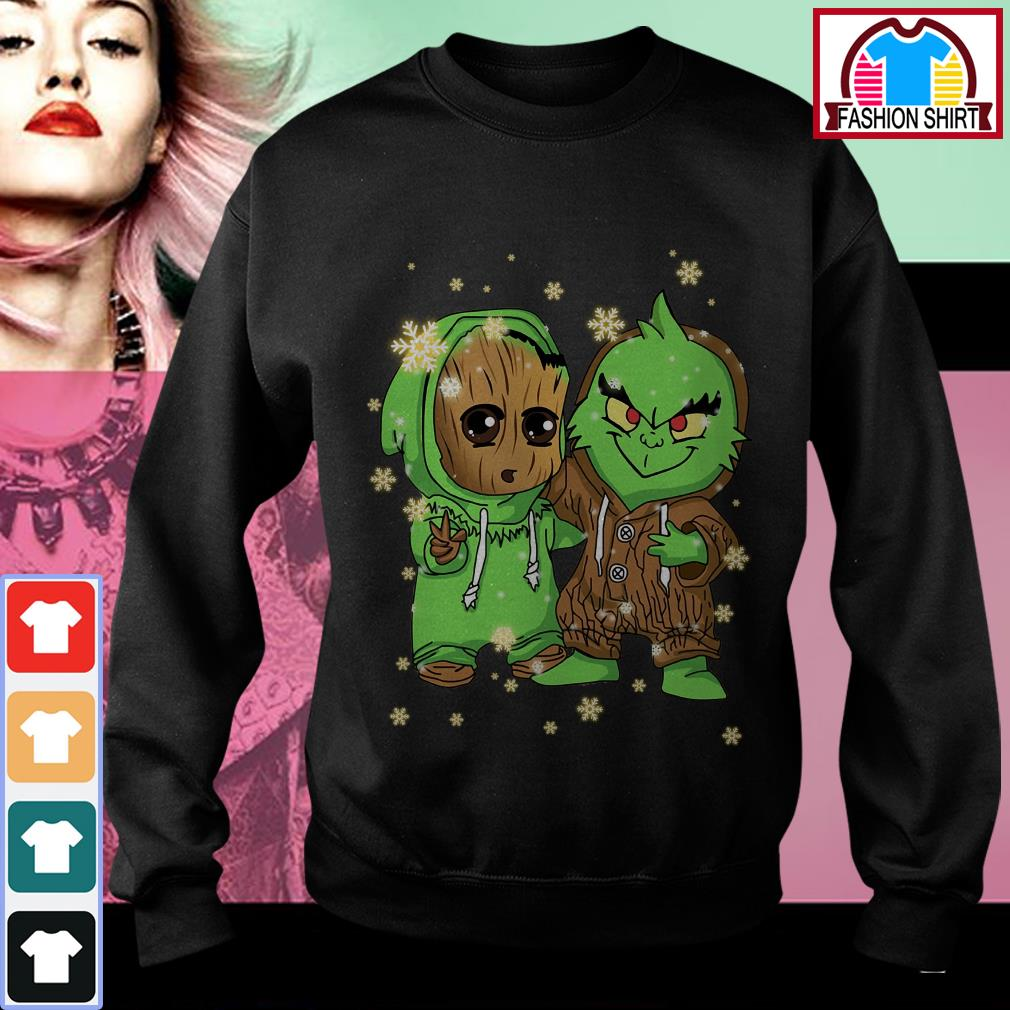 Official Baby Groot and Grinch Christmas shirt by tshirtat store Sweater