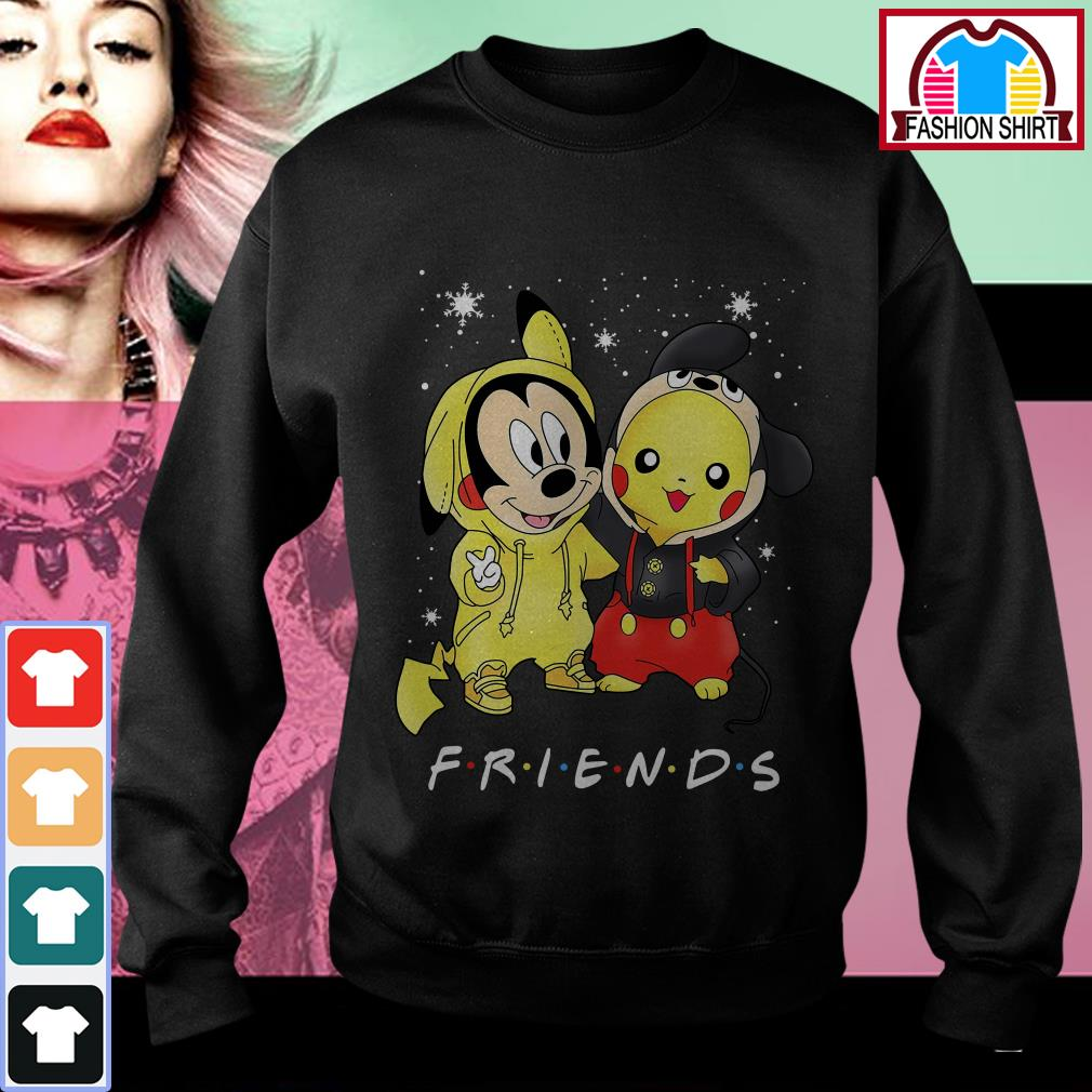 Official Baby Mickey Mouse and Pikachu Friends Christmas shirt by tshirtat store Sweater