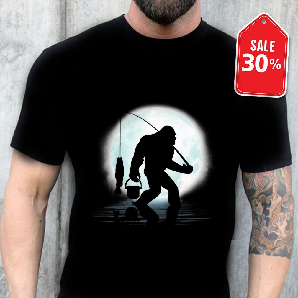 Official Bigfoot go Fishing under the Moon shirt by tshirtat store Shirt