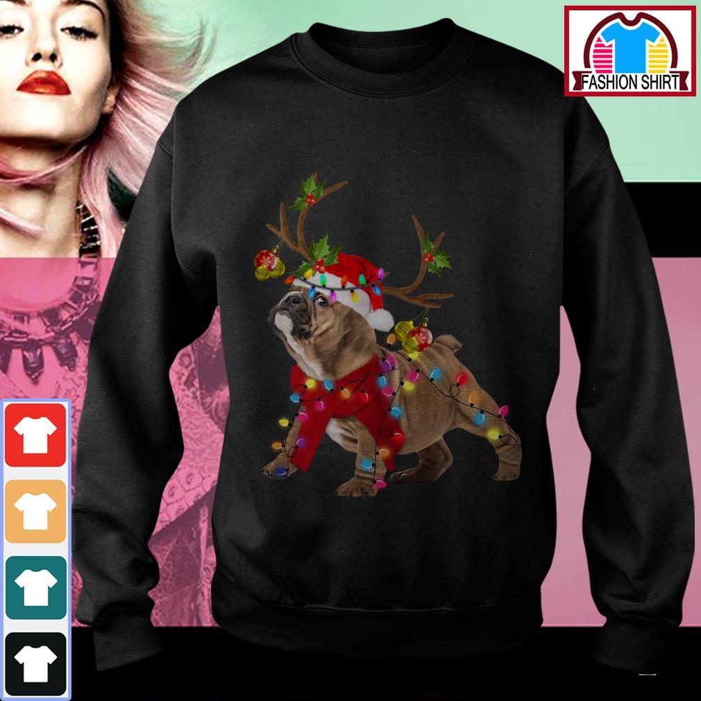 Official Bulldog dog light Christmas shirt by tshirtat store Sweater