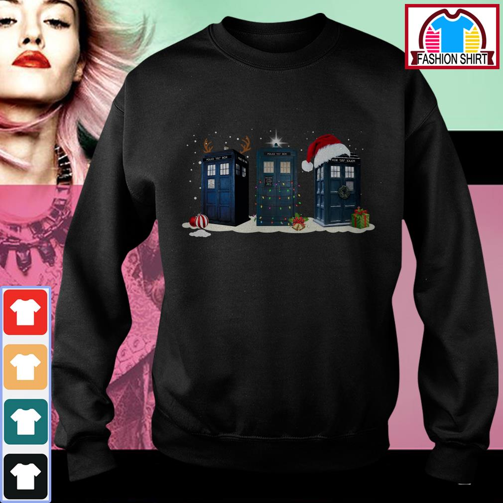 Official Doctor Who Tardis Police Box Christmas shirt by tshirtat store Sweater