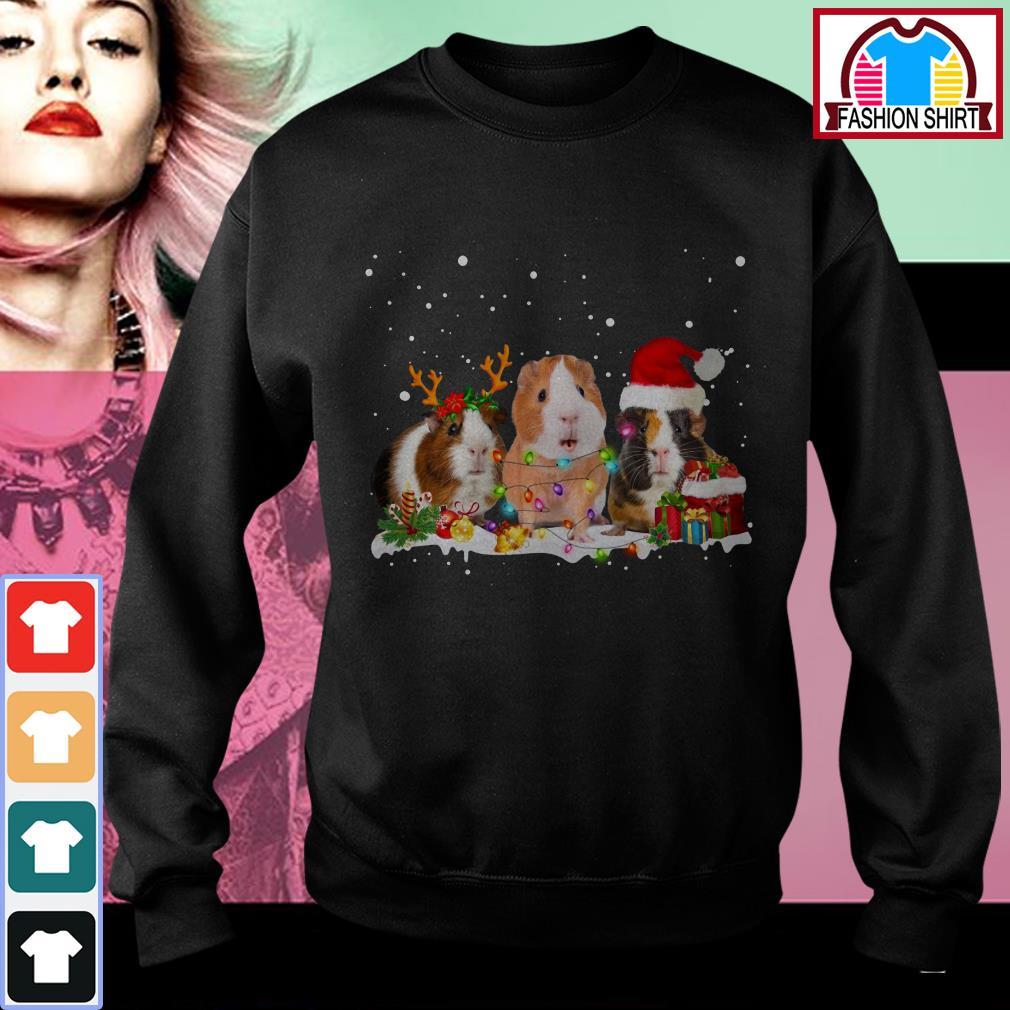 Official Guinea pig reindeer Santa Christmas shirt by tshirtat store Sweater