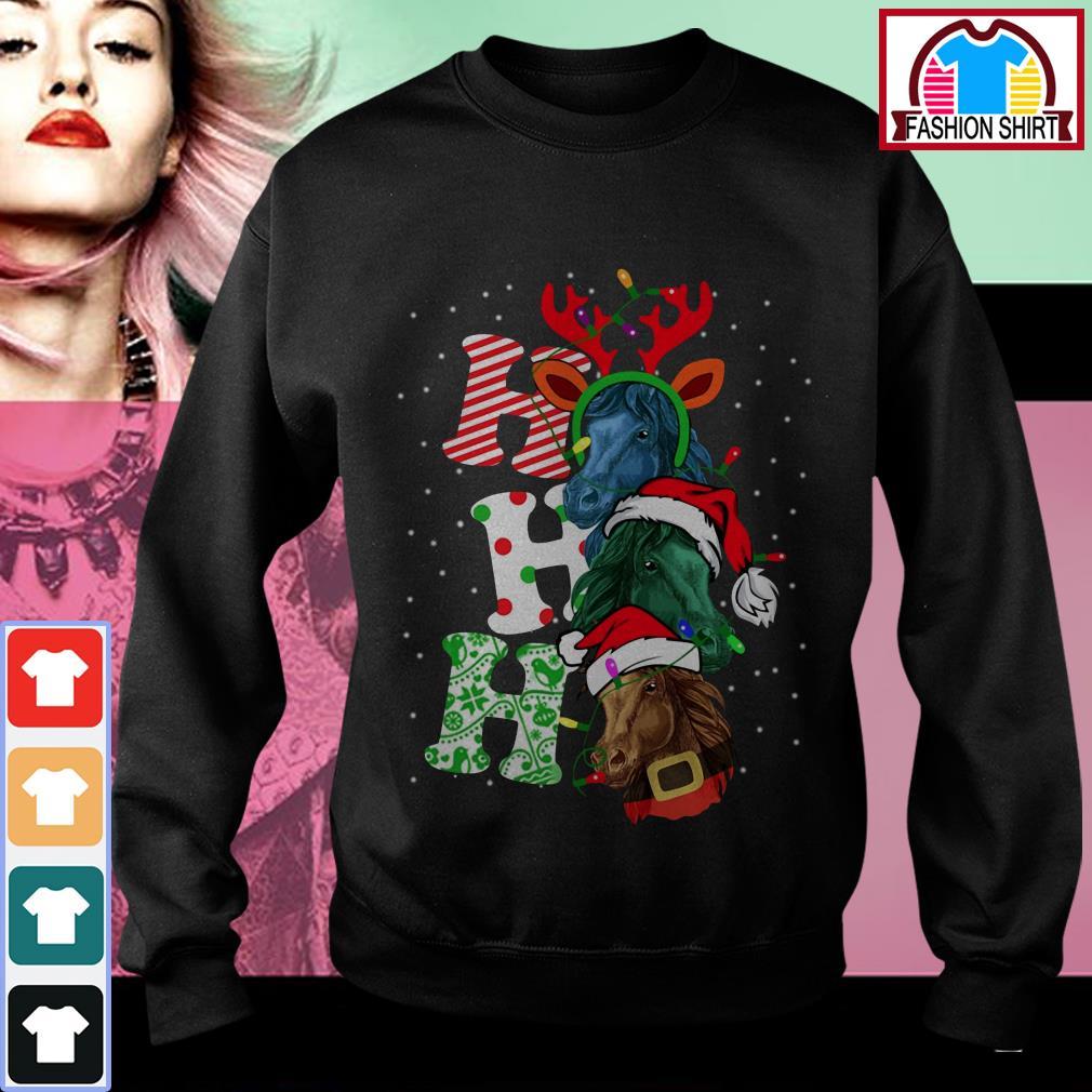 Official Ho Ho Ho Horse Santa Christmas shirt by tshirtat store Sweater