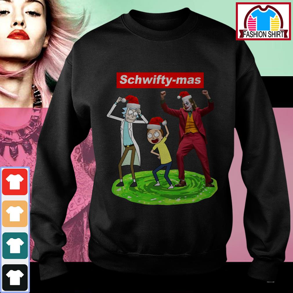 Official Supreme Schwifty-mas Rick and Morty Joker dance shirt by tshirtat store Sweater