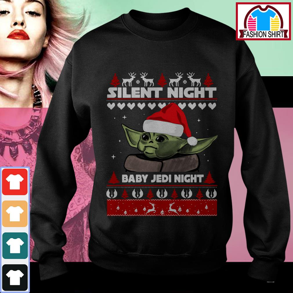 Official Yoda silent night baby Jedi Knight ugly Christmas shirt by tshirtat store Sweater