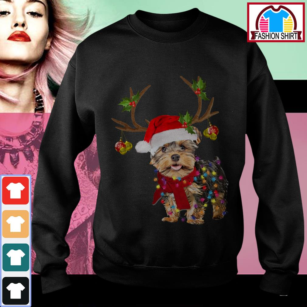 Official Yorkshire Terrier gorgeous reindeer Christmas shirt by tshirtat store Sweater