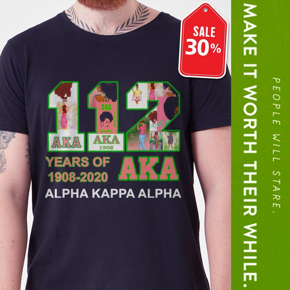 Official 112 Years of Aka Alpha Kappa Alpha 1908-2020 shirt by tshirtat store Shirt