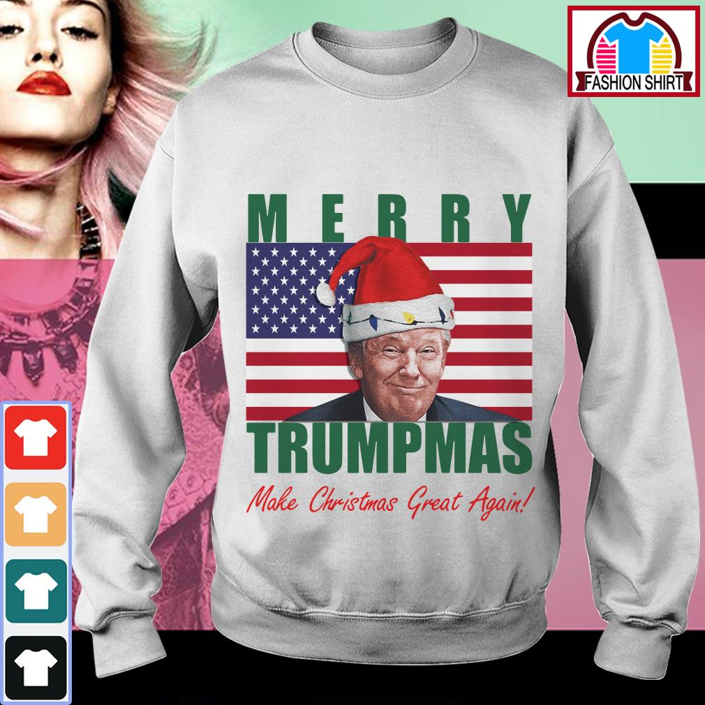 Official American flag Merry Trumpmas make Christmas great again shirt by tshirtat store Sweater