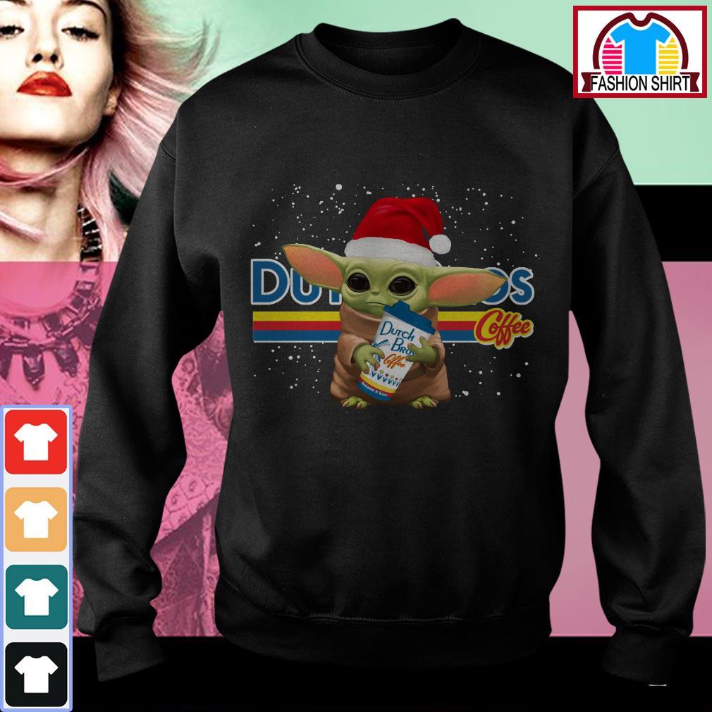 Official Baby Yoda hug Dutch Bros coffee Christmas shirt by tshirtat store Sweater