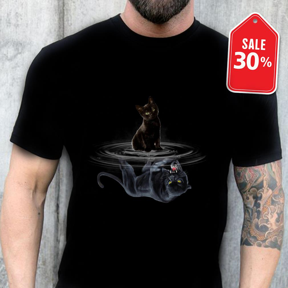 Official Black cat water reflection mirror black panther shirt by tshirtat store Shirt