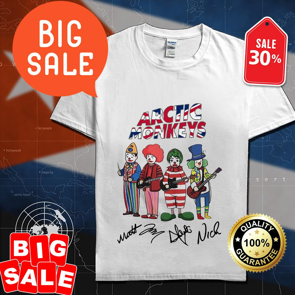 Official Clown Arctic Monkeys signatures shirt by tshirtat store Shirt