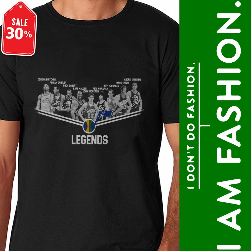 Official Utah Jazz legends signatures shirt by tshirtat store Shirt