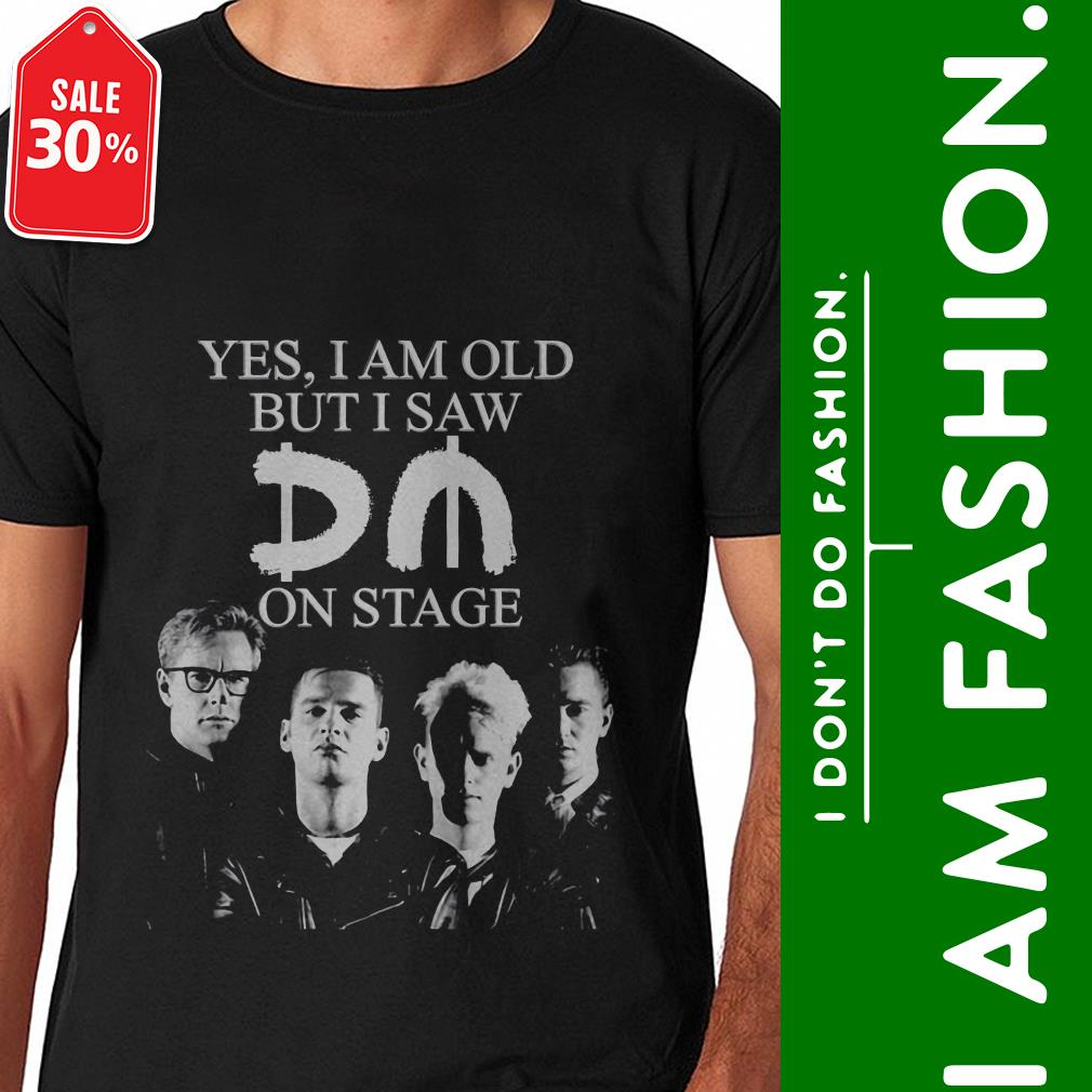 Official Yes I am old but I saw Depeche Mode on stage shirt by tshirtat store Shirt
