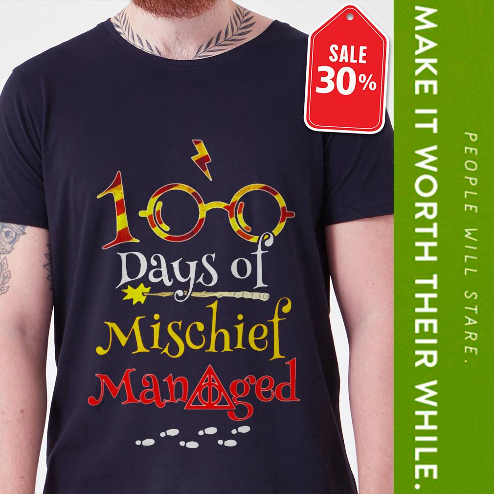 Harry Potter 100 days of mischief managed shirt by tshirtat store Shirt