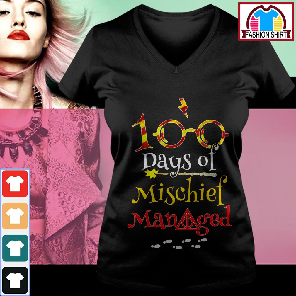Harry Potter 100 days of mischief managed shirt by tshirtat store V-neck T-shirt