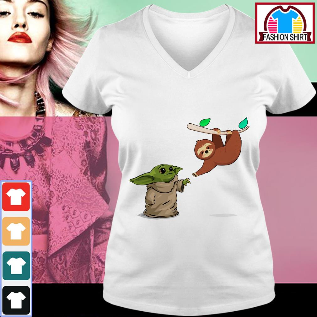 Official Baby Yoda and sloth shirt by tshirtat store Sweater