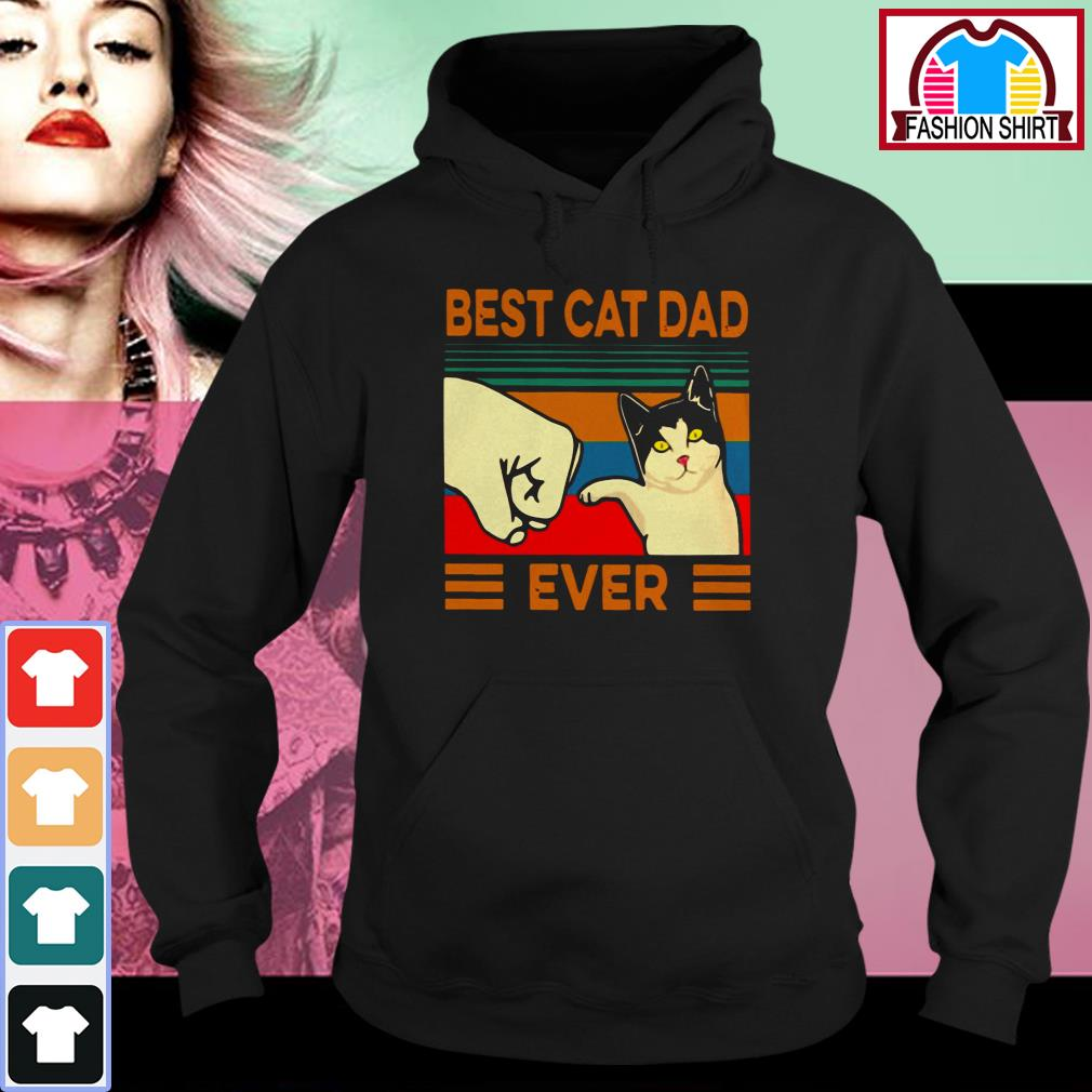 Official Best cat dad ever vintage shirt by tshirtat store Hoodie
