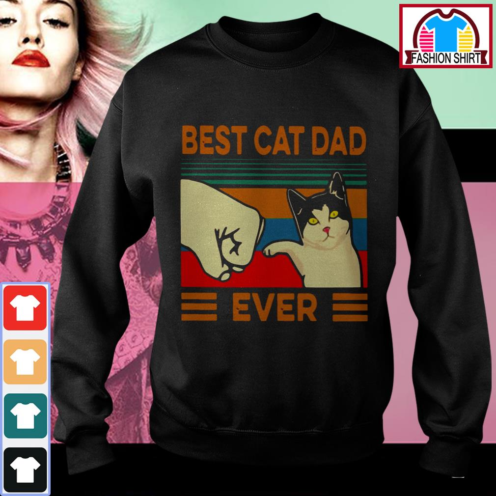 Official Best cat dad ever vintage shirt by tshirtat store Sweater