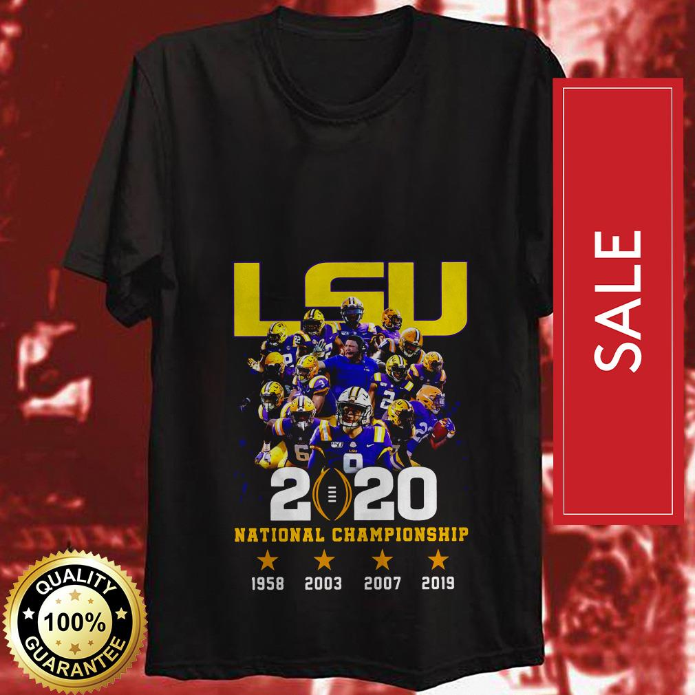 Official LSU Tigers 2020 national championship 1958 2003 2007 2019 shirt by tshirtat store Shirt