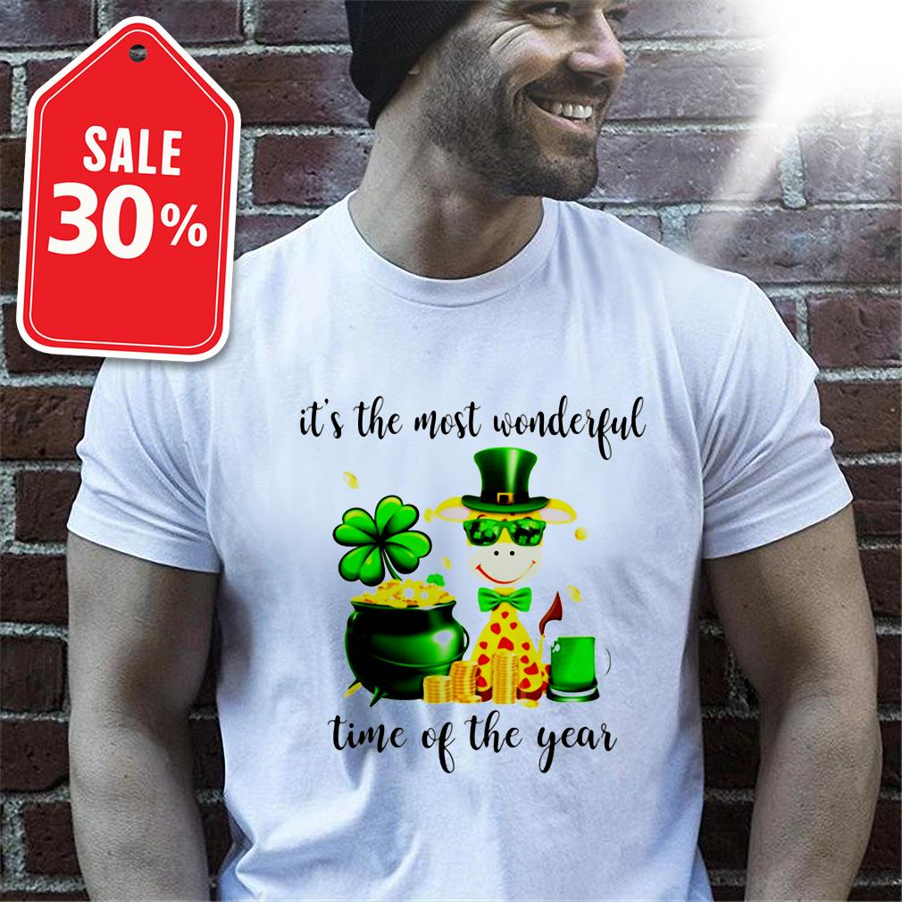 Official St. Patrick's day Giraffe it's the most wonderful time of the year shirt by tshirtat store Shirt