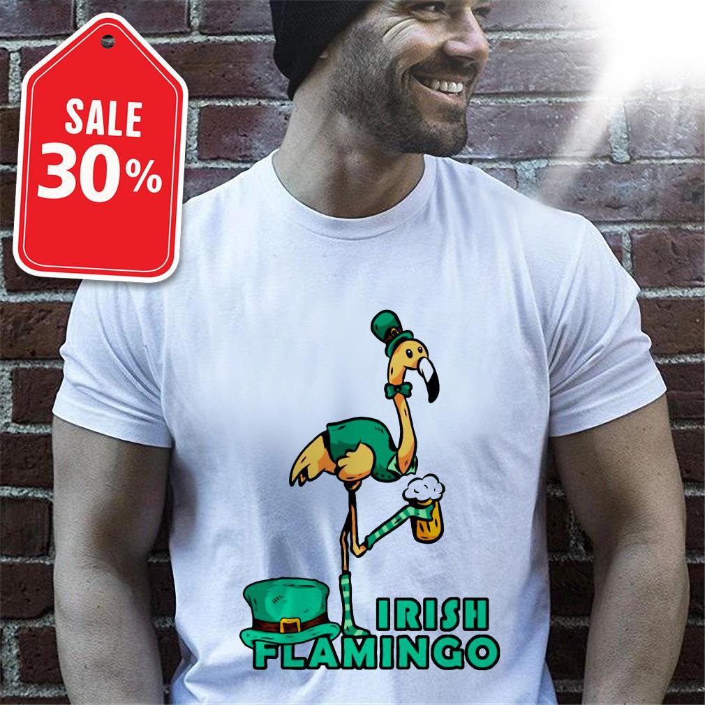 Official St Patrick's day Irish flamingo shirt by tshirtat store Shirt