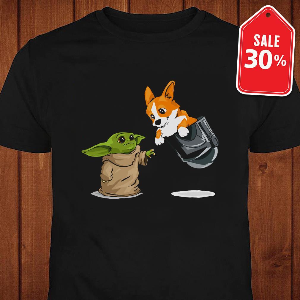 Official Star Wars Baby yoda and Corgi in pocket shirt by tshirtat store Shirt