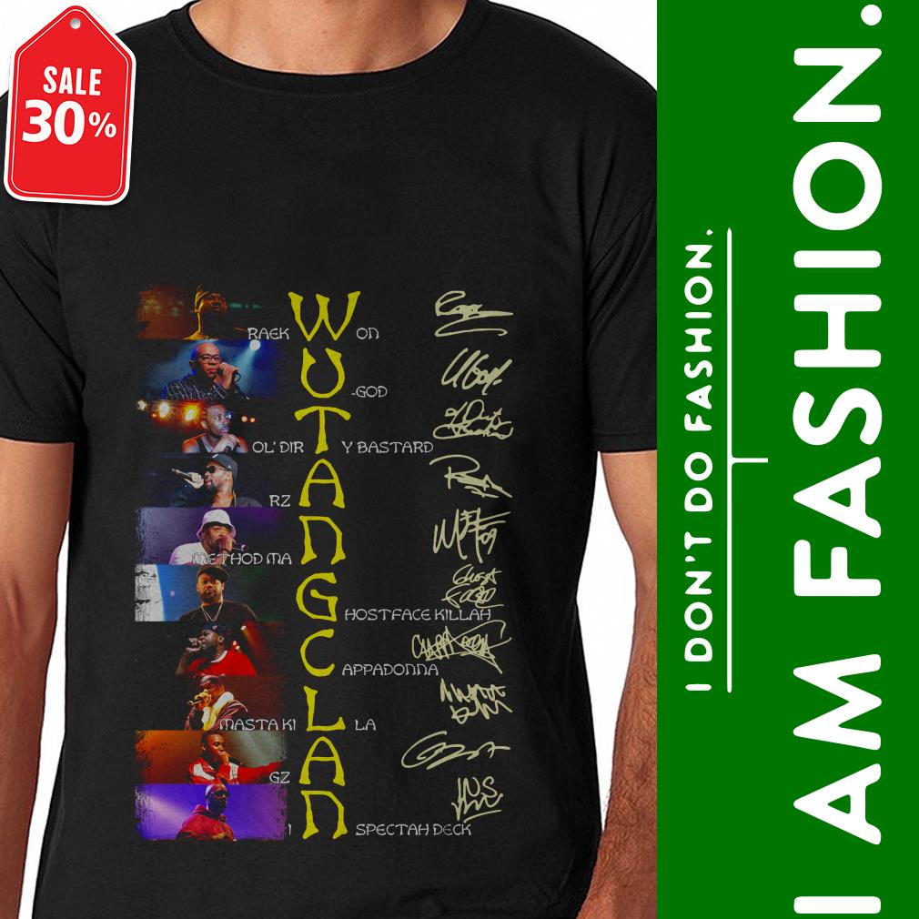 Official Wutang Clan Raekwon Ugod ol'dirty Bastard signatures shirt by tshirtat store Shirt