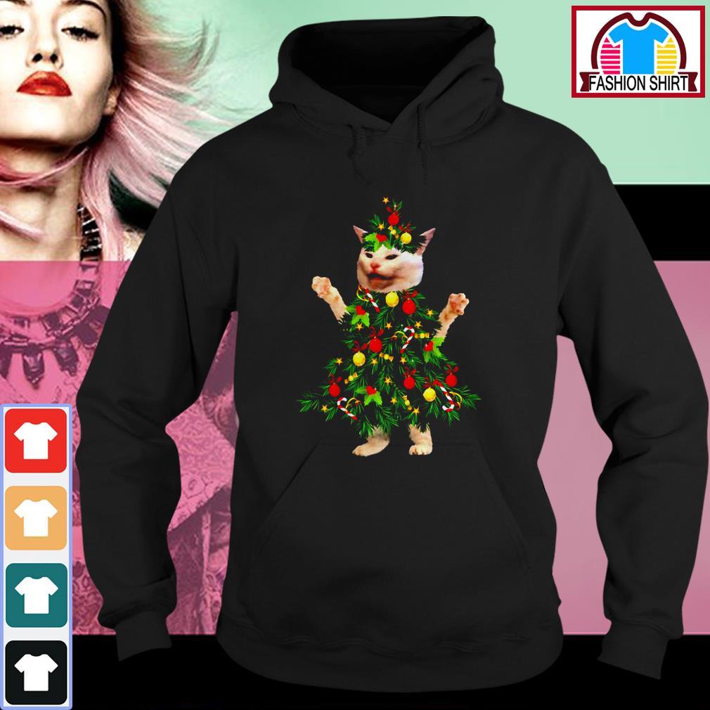 Cat wearing Christmas tree Hoodie