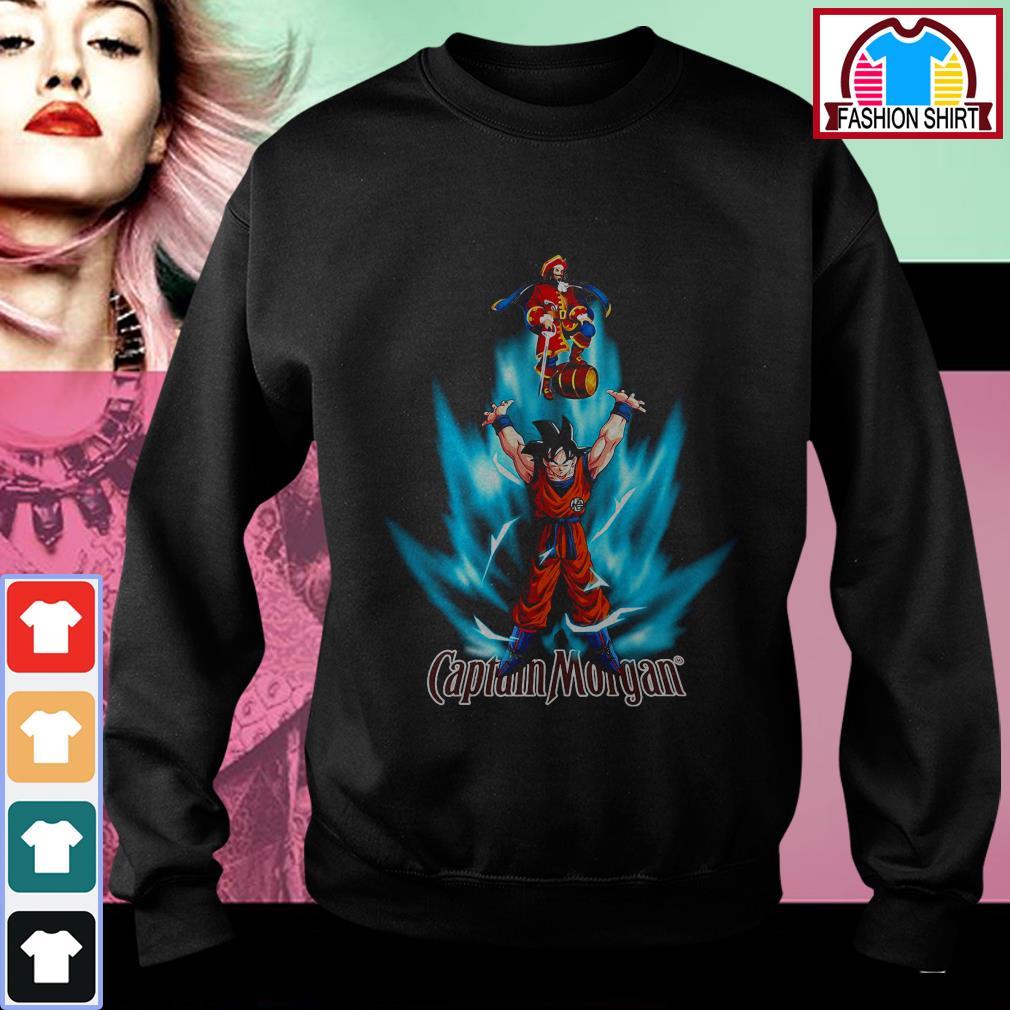 Dragon Ball Z Son Goku Captain Morgan logo Sweater