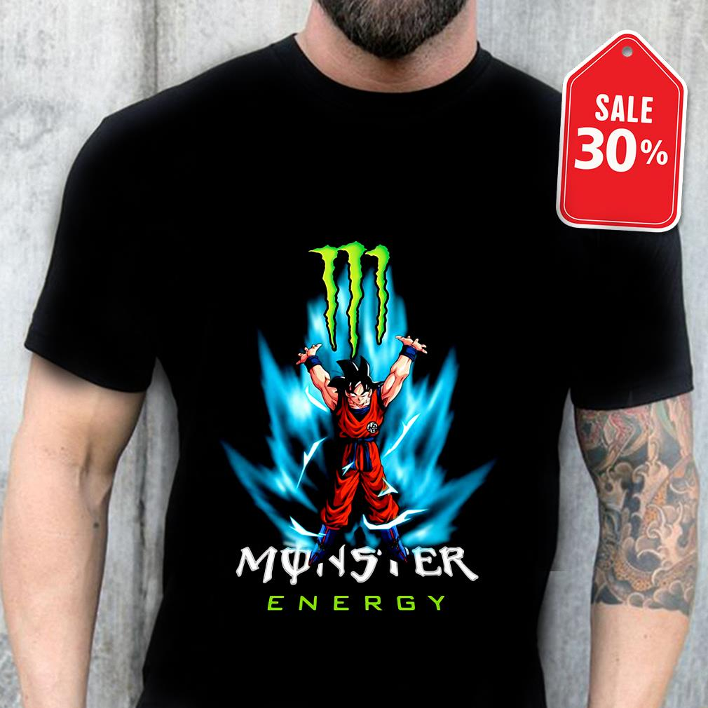 Dragon Ball Z Son Goku Monster energy shirt