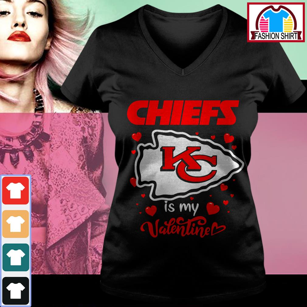 Kansas City Chiefs is my valentine V-neck T-shirt