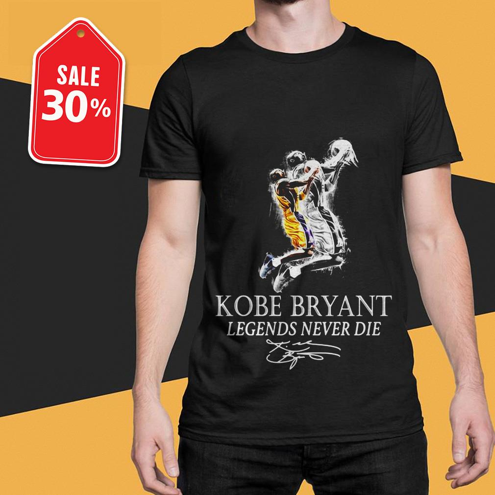Kobe Bryant basketball legends never die signature shirt