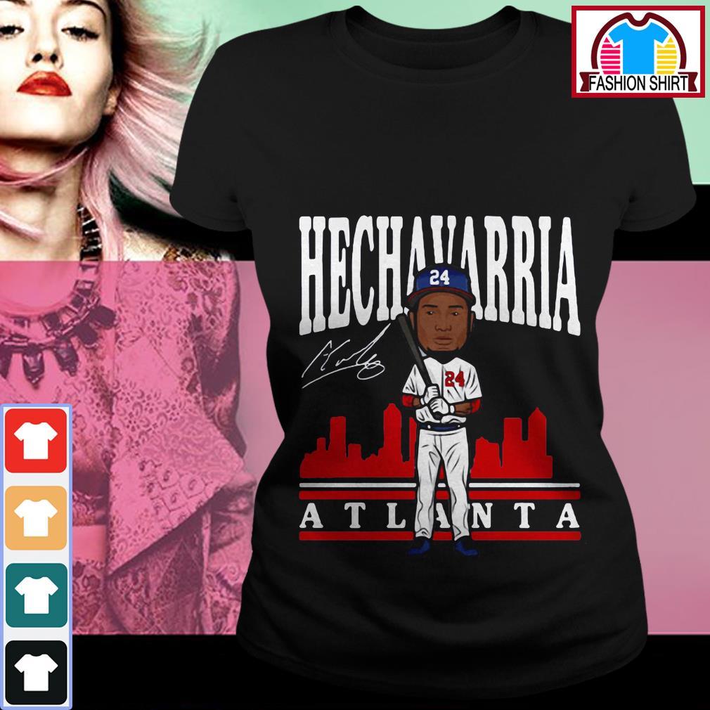 Official Adeiny Hechavarria toon Atlanta signature shirt by tshirtat store Ladies Tee