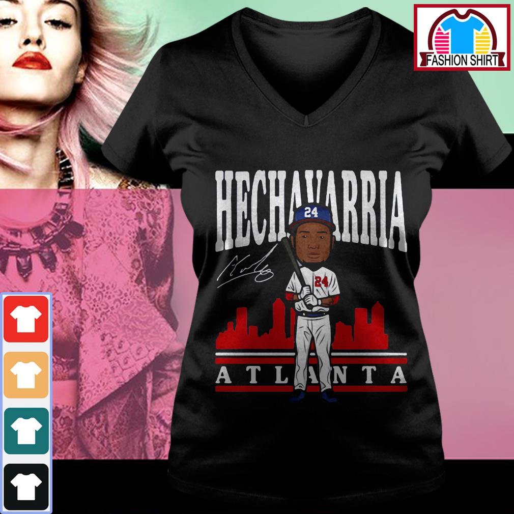 Official Adeiny Hechavarria toon Atlanta signature shirt by tshirtat store V-neck T-shirt