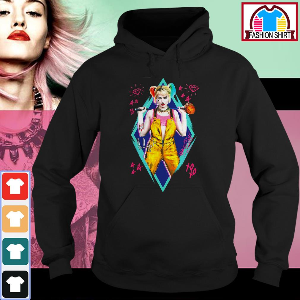 Official Birds of Prey Harley Quinn signature shirt by tshirtat store Hoodie