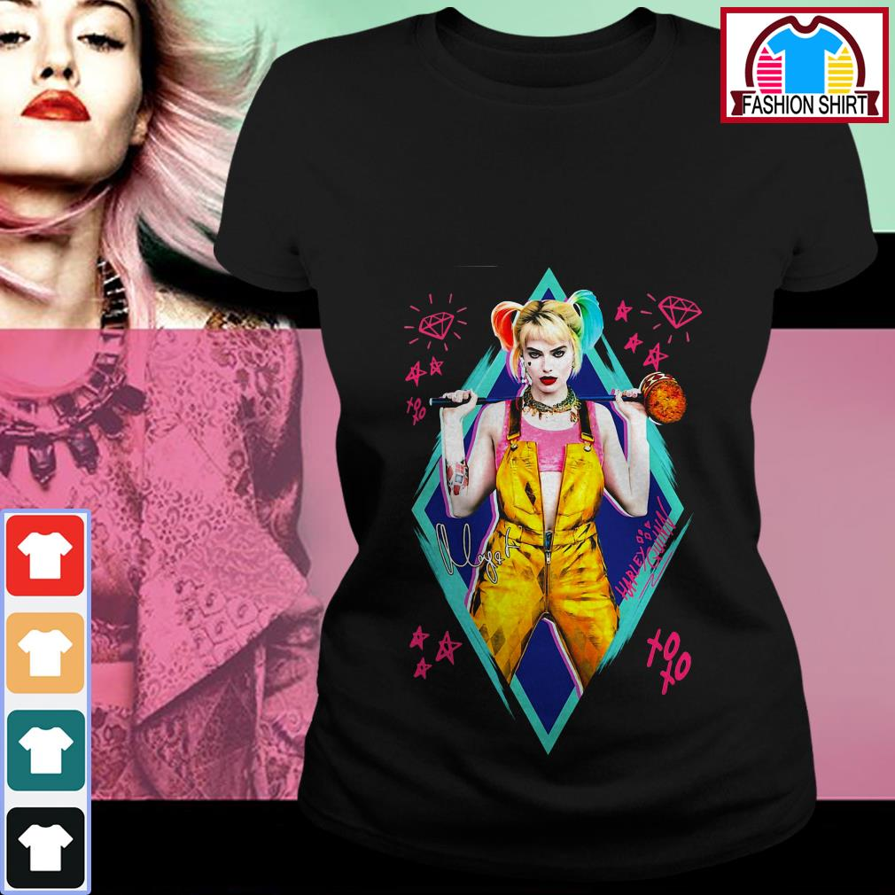 Official Birds of Prey Harley Quinn signature shirt by tshirtat store Ladies Tee