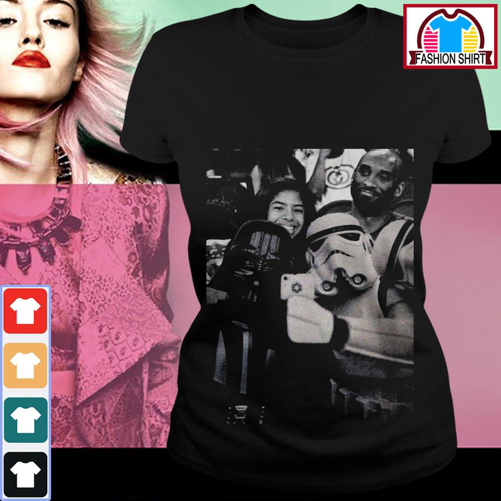 Official Darth Vader and Stormtrooper selfie with Kobe Bryant shirt by tshirtat store Ladies Tee