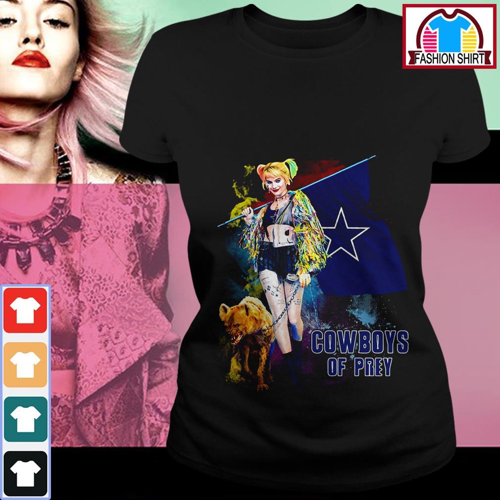 Official Harley Quinn Dallas Cowboy of Prey shirt by tshirtat store Ladies Tee