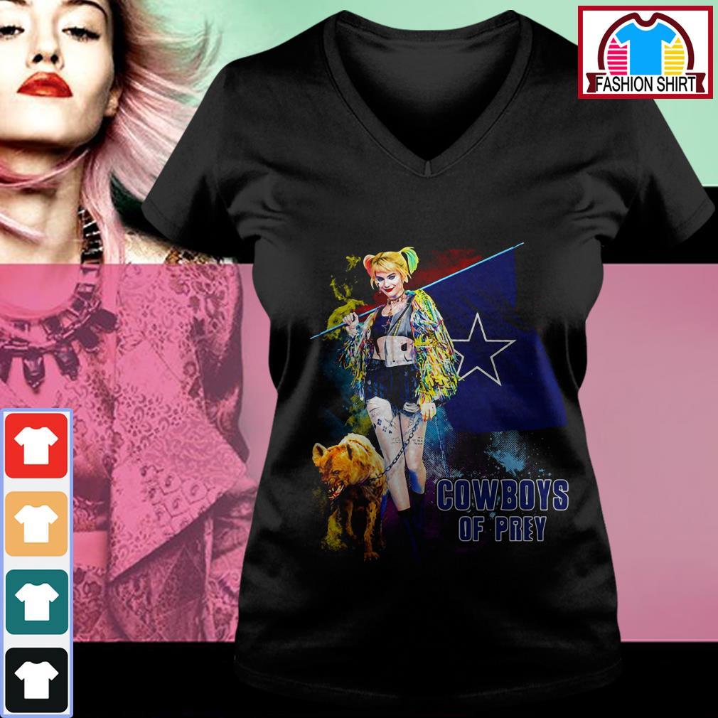 Official Harley Quinn Dallas Cowboy of Prey shirt by tshirtat store V-neck T-shirt