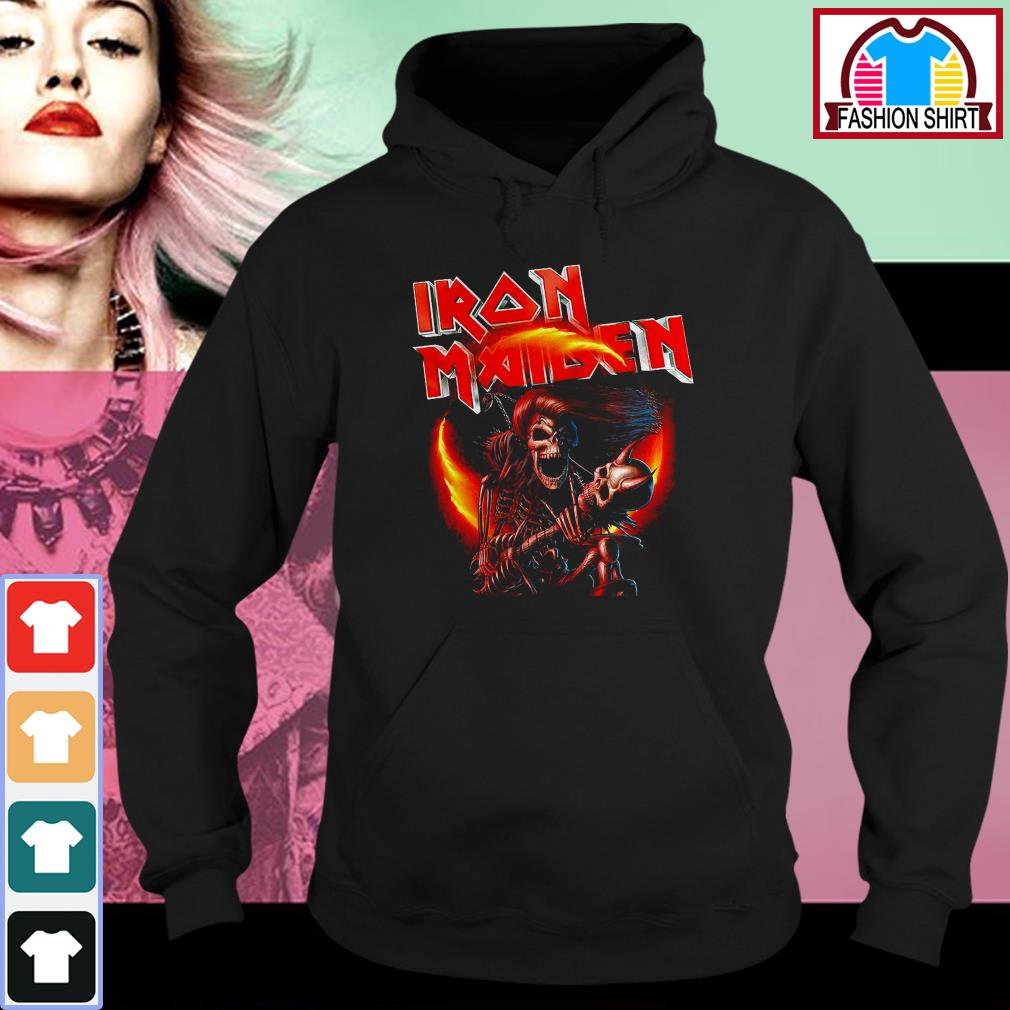 Official Iron Maiden skeleton singing shirt by tshirtat store Hoodie