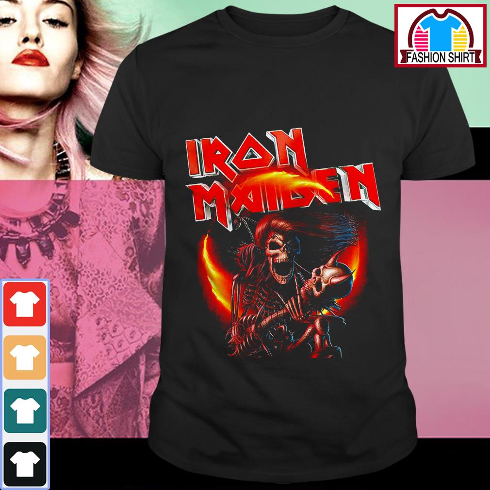 Official Iron Maiden skeleton singing shirt by tshirtat store Shirt