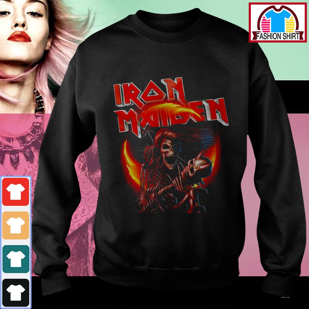 Official Iron Maiden skeleton singing shirt by tshirtat store Sweater