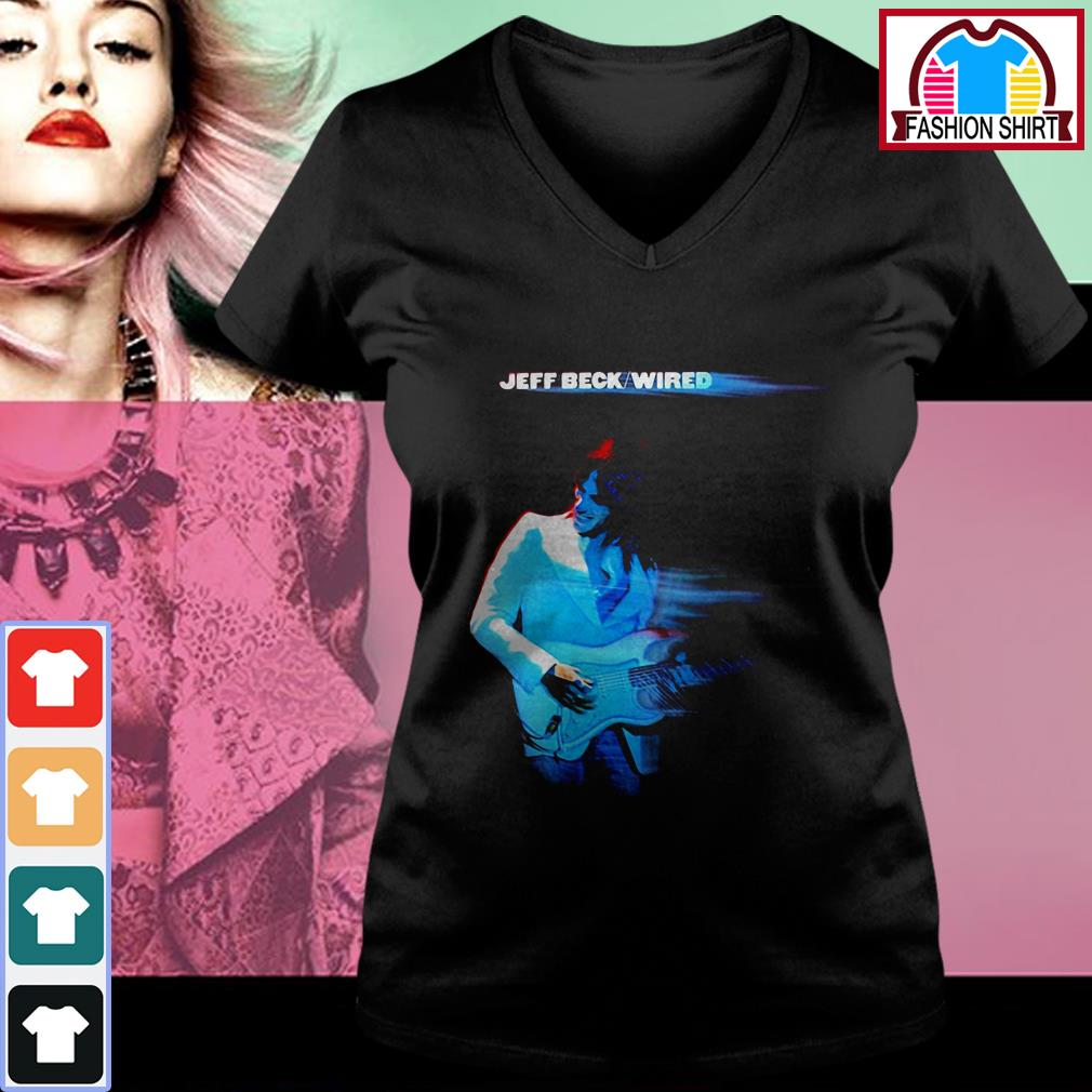 Official Jeff Beck Wired shirt by tshirtat store V-neck T-shirt