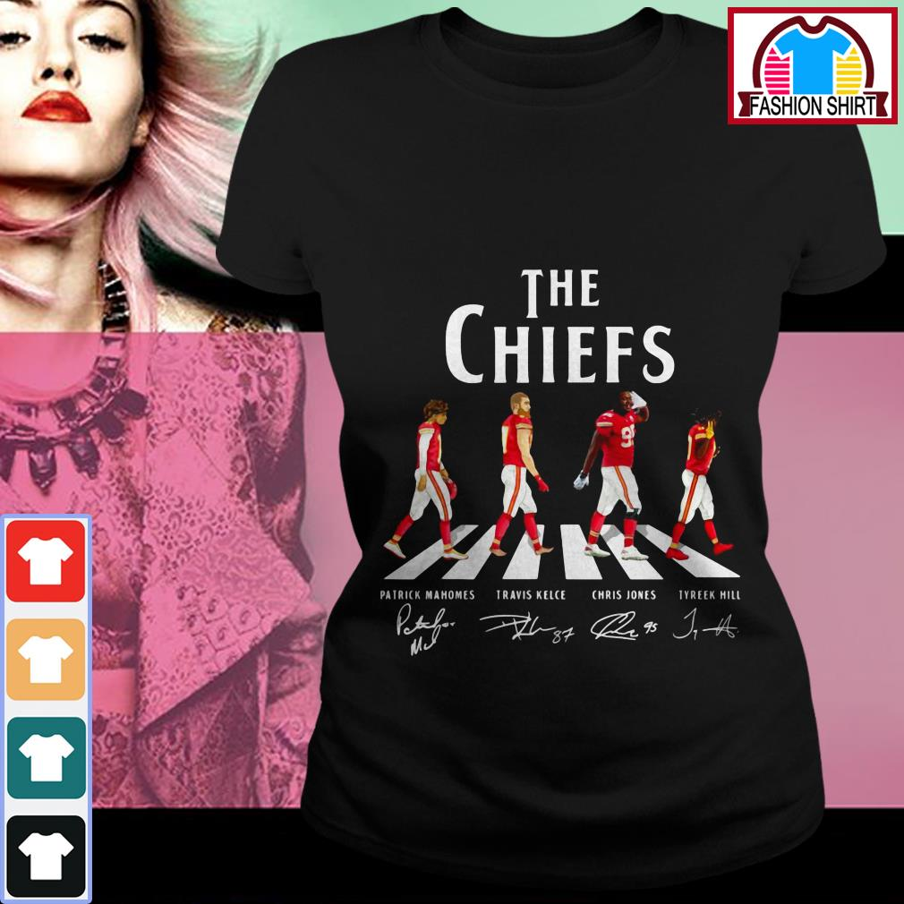 Official Kansas City Chiefs The Chiefs Abbey Road signatures shirt by tshirtat store Ladies Tee