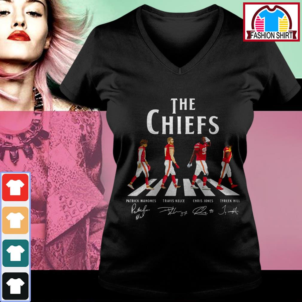 Official Kansas City Chiefs The Chiefs Abbey Road signatures shirt by tshirtat store V-neck T-shirt
