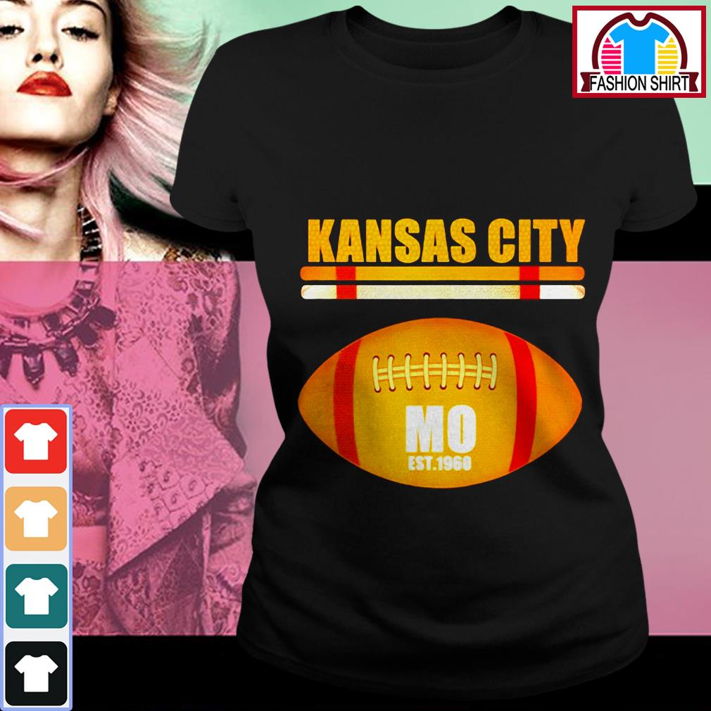 Official Kansas City Football Fan Missouri KC great shirt by tshirtat store Ladies Tee