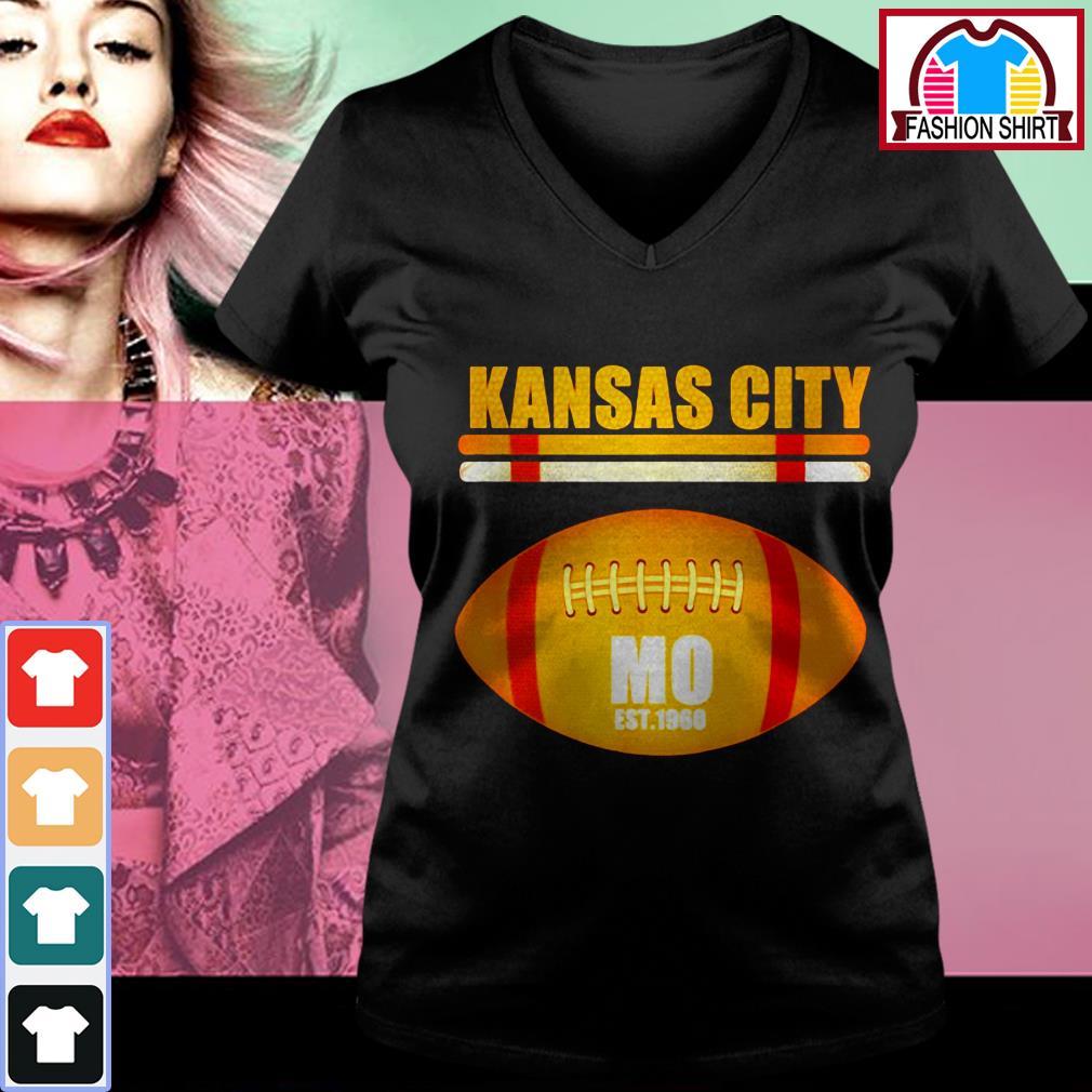 Official Kansas City Football Fan Missouri KC great shirt by tshirtat store V-neck T-shirt