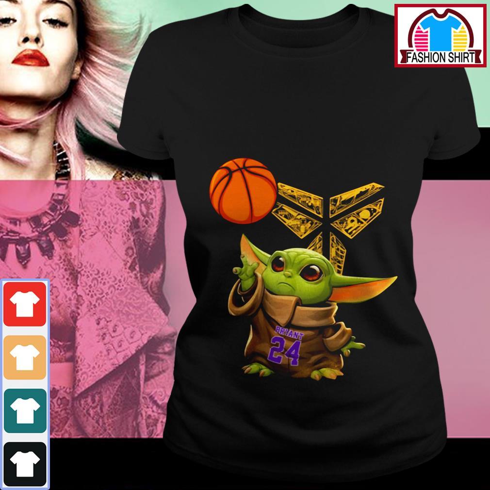Official Kobe Bryant Baby Yoda Black Mamba Basketball shirt by tshirtat store Ladies Tee