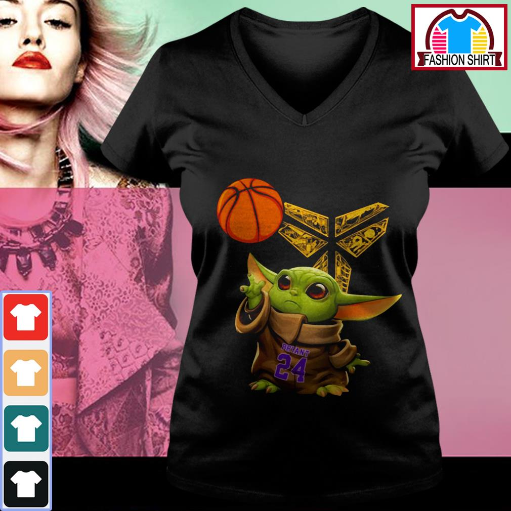 Official Kobe Bryant Baby Yoda Black Mamba Basketball shirt by tshirtat store V-neck T-shirt